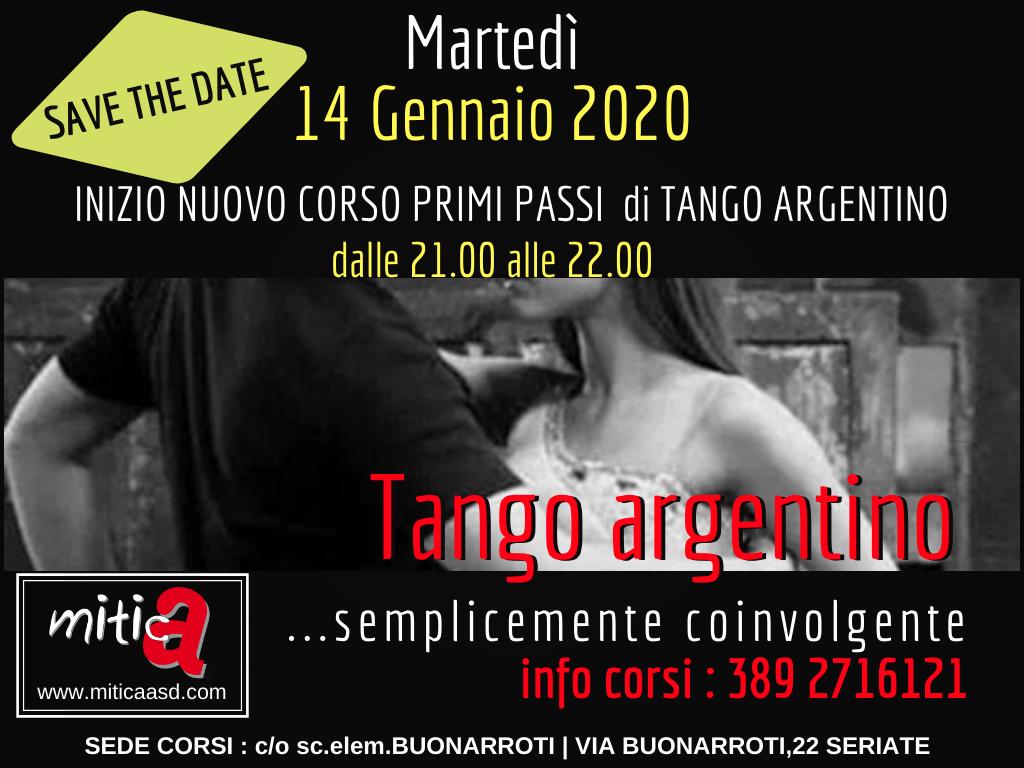 Nuovi corsi di tango primi passi a gennaio